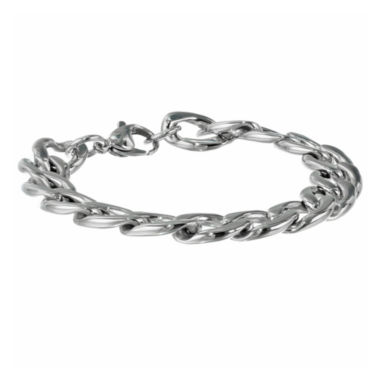 "jcpenney.com | Mens Stainless Steel 9"" 13mm Chunky Curb Bracelet"