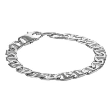 "jcpenney.com | Mens Brushed Stainless Steel 9"" 22mm Marine Link Bracelet"