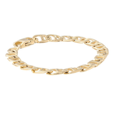 "jcpenney.com | Mens Stainless Steel & Gold-Tone IP 9"" 10mm Marine Link Bracelet"