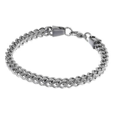 "jcpenney.com | Mens Stainless Steel 9"" 6mm Foxtail Bracelet"