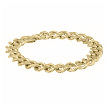 "jcpenney.com | Mens Stainless Steel & Gold-Tone IP 9"" 12mm Chunky Curb Bracelet"