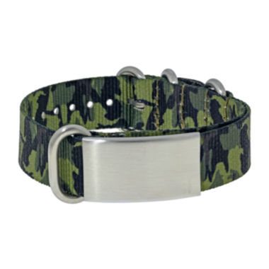 jcpenney.com | Mens Stainless Steel & Green Camo ID Bracelet
