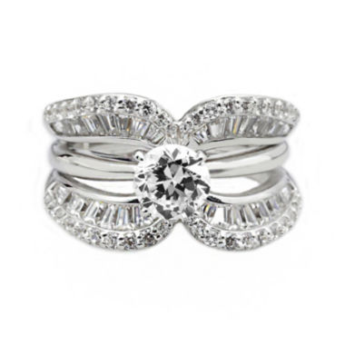 jcpenney.com | DiamonArt® Cubic Zirconia Sterling Silver Crescent Ring Guard