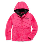 Weatherproof Quilted Monkey Fleece Jacket - Girls 4-6x