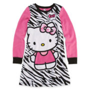 Hello Kitty® Zebra Print Long-Sleeve Sleep Gown - Girls 4-10