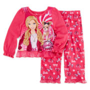 Barbie™ 2-pc. Sleep Set - Girls 3t-6x