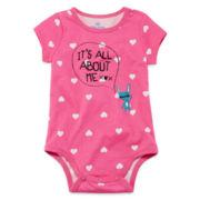 Okie Dokie® Short-Sleeve Graphic Bodysuit - Girls newborn-9m
