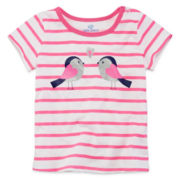 Okie Dokie® Short-Sleeve Graphic Tee - Girls 12m-24m