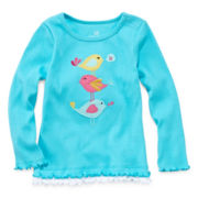 Okie Dokie® Long-Sleeve Appliqué Tee - Girls 12m-24m