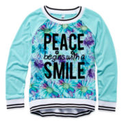 Beautees Long-Sleeve Raglan Top - Girls 7-16