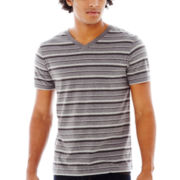 Arizona Striped V-Neck Tee