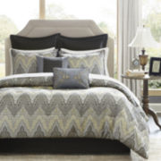 Madison Park Regis Chevron 12-pc. Jacquard Comforter Set