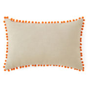 Happy Chic by Jonathan Adler Holly Pom Pom Oblong Decorative Pillow