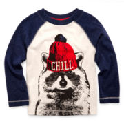 Arizona Long-Sleeve Graphic Raglan Knit Tee – Boys 2t-6