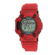 Armitron® Pro-Sport Mens Red Resin Strap Chronograph Sport Watch 40/8229RED