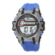 Armitron® Pro-Sport Mens Blue Resin Strap Chronograph Sport Watch 40/8341BLU