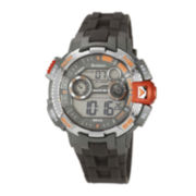 Armitron® Pro-Sport Mens Gray Resin Strap Chronograph Sport Watch 40/8280ORGJ