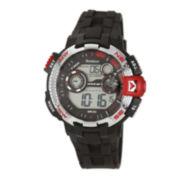Armitron® Pro-Sport Mens Black Resin Strap Chronograph Sport Watch 40/8280REDJ
