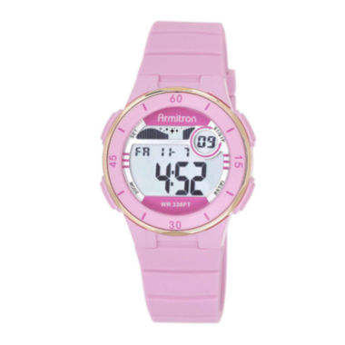 jcpenney.com | Armitron® Pro-Sport Womens Pink Resin Strap Chronograph Sport Watch 45/7049PNKJ