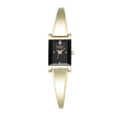 jcpenney.com | Armitron® Now® Womens Diamond-Accent Rectangular Bangle Watch 75/5322BKGP