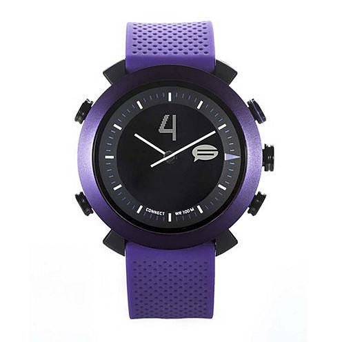 Cogito Classic Purple Silicone Strap Analog/Digital Smartwatch