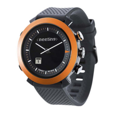 jcpenney.com | Cogito Classic Orange Bezel Black Silicone Strap Analog/Digital Smartwatch