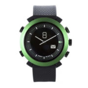 Cogito Classic Green Bezel Black Silicone Strap Analog/Digital Smartwatch