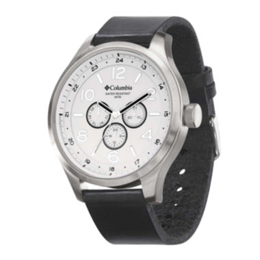 jcpenney.com | Columbia® Skyline Mens Black Leather Lifestyle Watch