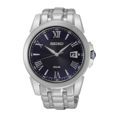 jcpenney.com | Seiko® Le Grand Sport Mens Stainless Steel Solar Sport Watch SNE395