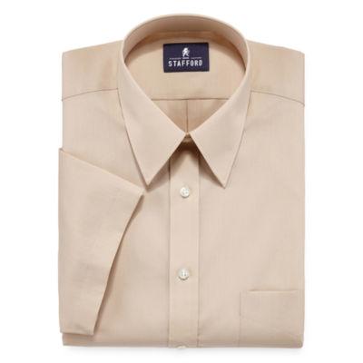 stafford travel short sleeve easy care broadcloth dress shirt