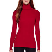 Love by Design Long-Sleeve Ribbed Turtleneck Sweater