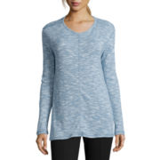 St. John's Bay® Long-Sleeve Textured Tunic