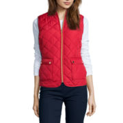 St. John's Bay® Sleeveless Puffer Vest