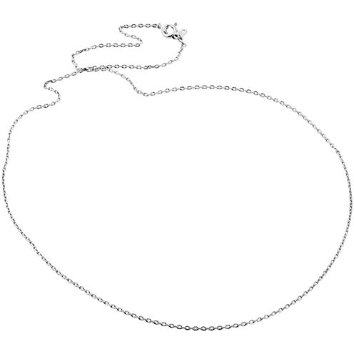 "Sterling Silver 18"" Diamond-Cut Cable Chain"