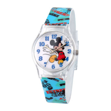 jcpenney.com | Disney Mickey Mouse Kids Multi-Blue Strap Watch