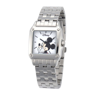 jcpenney.com | Disney Mickey Mouse Womens Silver-Tone Watch