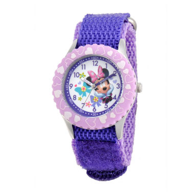 jcpenney.com | Disney Minnie Mouse Kids Time Teacher Purple Strap Watch