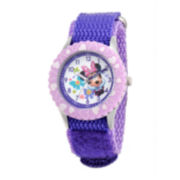 Disney Minnie Mouse Kids Time Teacher Purple Strap Watch