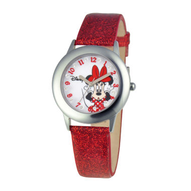 jcpenney.com | Disney Minnie Mouse Kids Red Glitter Watch