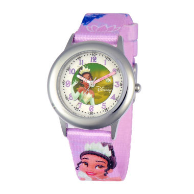 jcpenney.com | Disney Tiana Kids Time Teacher Purple Strap Watch