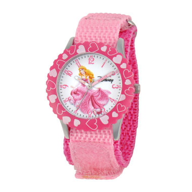 jcpenney.com | Disney Aurora Kids Time Teacher Pink Strap Watch