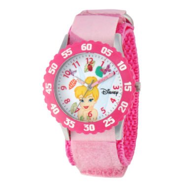 jcpenney.com | Disney Tinker Bell Kids Time Teacher Pink Strap Watch