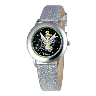 jcpenney.com | Disney Tinker Bell Kids Gray Glitter Watch