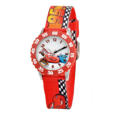 jcpenney.com | Disney Cars Time Teacher Kids Racetrack Strap Watch