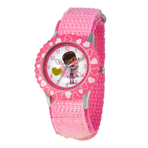 Disney Doc McStuffins Kids Time Teacher Pink Strap Watch