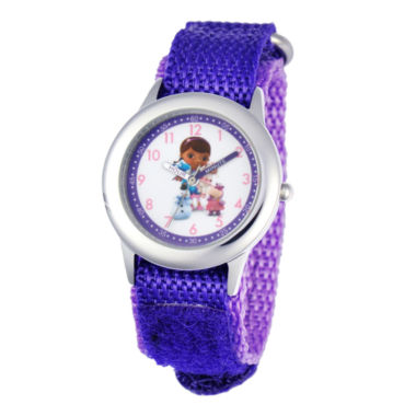 jcpenney.com | Disney Doc McStuffins and Friends Kids Time Teacher Purple Strap Watch