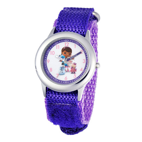 Disney Doc McStuffins and Friends Kids Time Teacher Purple Strap Watch