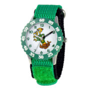 Disney Terri & Terry Monsters University Kids Time Teacher Green Strap Watch