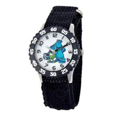 jcpenney.com | Disney Sulley & Mike Monsters University Kids Time Teacher Black Strap Watch