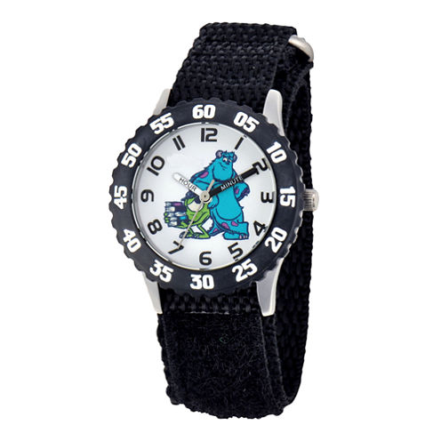 Disney Sulley & Mike Monsters University Kids Time Teacher Black Strap Watch